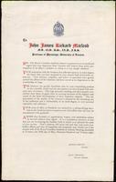 Address to John James Rickard Macleod