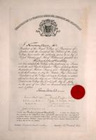 Certificate from the Royal College of Physicians of London granting F. G. Banting license to practise medicine, surgery, and midwifery.