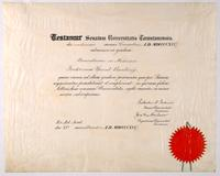 Certificate from the University of Toronto granting F. G. Banting the degree of M.B.
