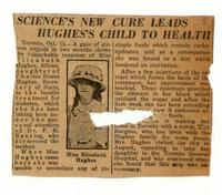 Science's new cure leads Hughes's child to health