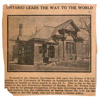 Ontario leads the way to the world