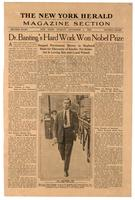 Dr. Banting's hard work won Nobel Prize