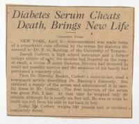 Diabetes serum cheats death, brings new life