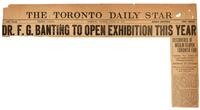 Dr. F. G. Banting to open exhibition this year