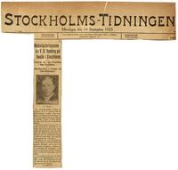 Nobelpristagaren d:r F. G. Banting pa bsuk I Stockholm