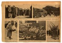 Photo spread covering F. G. Banting's funeral