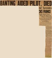 Banting aided pilot, died