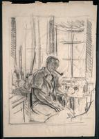 Sketch of F. G. Banting in his laboratory