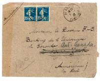 Envelope addessed to Monsieur le Docteur F. C. Benting de l'Université de Toronto à New York