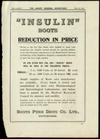 Series of advertisements for Insulin - Boots