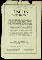 Advertisement for A B Brand insulin