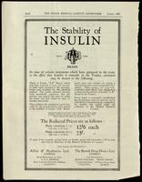 Advertisement for A B Brand insulin - export market