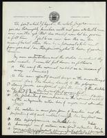 Draft of letter to J. J. R. Macleod 09/1922