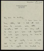 Letter to Dr. Banting 02/11/1926