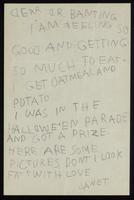 Letter to Dr. Banting from Janet Turnbull ca 11/1922