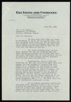 Letter to Dr. F. G. Banting 26/07/1922