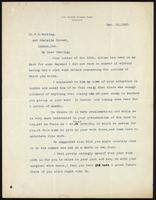 Letter to Dr. F. G. Banting 14/12/1920