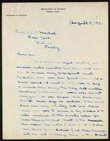 C. H. Best's draft of letter to J. J. R. Macleod 09/08/1921