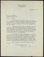 Letter to Dr. F. G. Banting from Moses Barron 14/02/1923