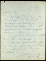 Letter to Dr. Collip 30/06/1925