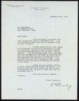 Letter to Mr. Ted Ryder 27/12/1938