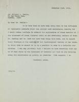 Letter to Dr. Elliott P. Joslin 21/11/1921