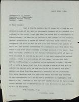 Letter to Professor W. B. Cannon 29/04/1922