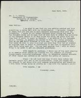 Letter to Dr. J. B. Collip 21/06/1922
