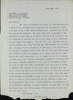 Letter to Professor J. B. Collip 26/06/1922