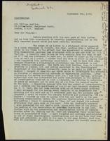 Letter to Sir William Bayliss 08/09/1922