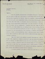 Letter to Professor Macleod 7/10/1927