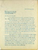 Letter to Professor J. J. R. Macleod 15/02/1929