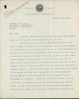Letter to Professor C. H. Best 26/01/1929