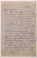 Letter to mother 15/10/1918