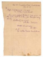 Letter to Capt. F. G. Banting 26/09/1918