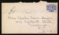 Letter to mother 13/01/1922