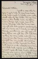 Letter to mother 15/01/1922