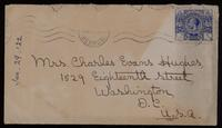 Letter to mother 29/01/1922