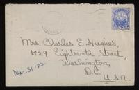 Letter to Mumsey 31/03/1922