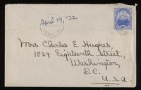 Letter to Mumsey 14/04/1922