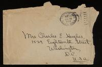 Letter to Mrs. Hughes regarding a recent newspaper article ca. 21/11/1922