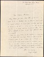 Letter to Profesor Macleod ca. 11/1922