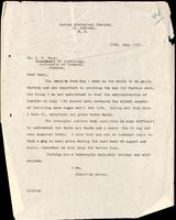 Letter to S. U. Page 28/07/1922