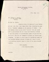 Letter to Dr. Elliott P. Joslin  29/07/1922