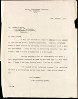Letter to Dr. Duncan Graham 18/08/1922