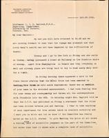 Letter to Professor J. J. R. Macleod, F. R. S. 29/10/1923