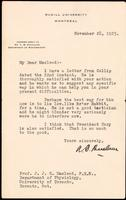 Letter to Macleod 28/11/1923