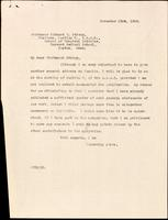 Letter to Richard P. Strong 23/11/1923