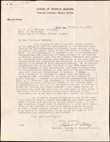 Letter to Dr. J. J. R. Macleod 19/11/1923
