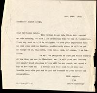 Letter to Professor August Krogh 27/10/1922